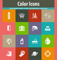 courses school icons set vector image