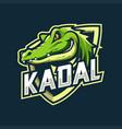 crocodile mascot esport logo vector image vector image