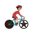 cyclist on race bike vector image