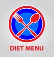 diet menu vector image