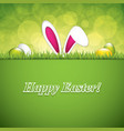 easter greeting card with rabbit ears vector image