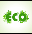 Eco city concept with eco text stock vector image