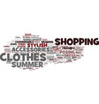 fashion word cloud concept vector image vector image