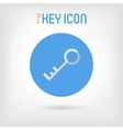 Flat design silver key icon vector image