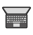 flat laptop cartoon vector image vector image