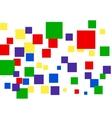 geometrical random tiles vector image