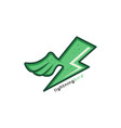 green lightning bird theme identity ogo template vector image vector image