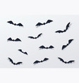 halloween decor background paper cut vector image vector image