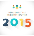 Happy New Year 2015 colorful greeting card made vector image