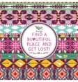 Hipster seamless colorful tribal pattern with vector image
