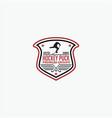 hockey puck logo vector image vector image