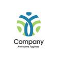 human figure active fitness logo vector image vector image