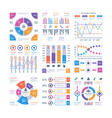 infographics elements flow infograph process vector image vector image