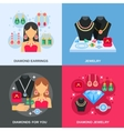 Jewelry Concept Icons Set vector image vector image