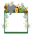 jungle animals cartoon 5 vector image vector image
