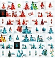 Large mega collection of Christmas cards and vector image vector image