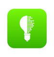 lightbulb with microcircuit icon digital green vector image vector image