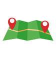 location pointer symbol over a map vector image vector image