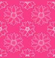 lotus modern pink seamless pattern vector image vector image