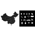 map china administrative regions departments vector image