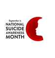 national suicide awareness month holiday concept vector image vector image