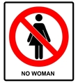 No woman sign isolated on white background vector image vector image