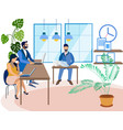 office staff work in minimalist style cartoon vector image