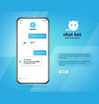 online chatbot app with messages on realistic vector image vector image