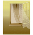Open window white wall vector image