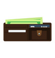 opened wallet with flat and solid color style vector image vector image