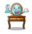 professor dressing table character cartoon vector image