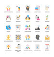 project management flat icons collection vector image