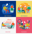 psychotherapist and psychologist concept icons set vector image vector image