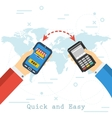 Quick and Easy Mobile Payment vector image vector image