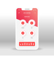 red spa center services ui ux gui screen for vector image vector image