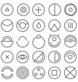 Round experimental icons vector image