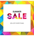 Sale banner on low poly background with elegant vector image vector image