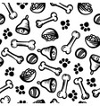 seamless cute pattern with dog food cell bones vector image vector image