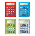 set calculator icons vector image