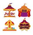 set carnival circus emblems vector image