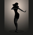 silhouette dancer and soul singer in style vector image