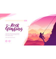 silhouette mountaineer conquering a peak vector image vector image