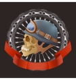 skull motorcyclists with helmet vector image vector image