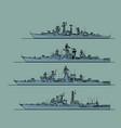 soviet cold war navy anti-submarine frigates vector image vector image