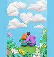 spring story heart in clouds fall in love young vector image