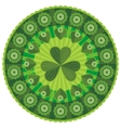 st patricks day badge pattern vector image