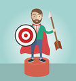 Target businessman superhero leader strategy vector image