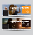 templates banners for social networks vector image