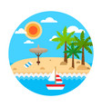 travel concept summer holiday on sand beach vector image