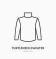 turtleneck sweater flat line icon cold weather vector image vector image